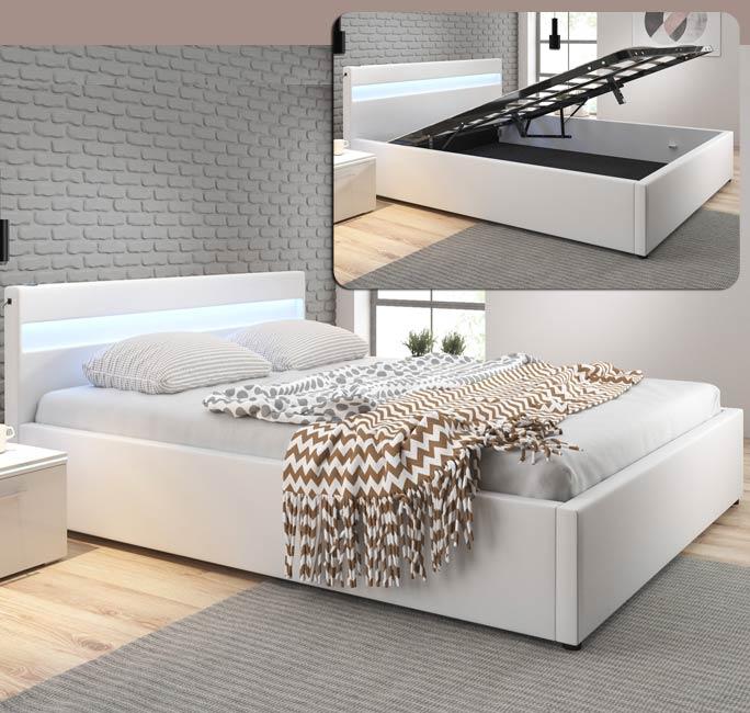 Cama de diseño Adal en color blanco