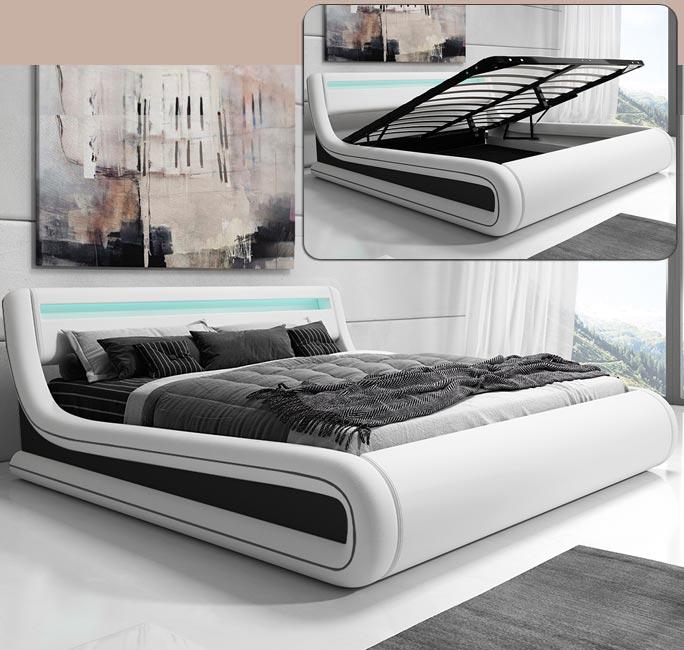 Cama de diseño Riana en color blanco
