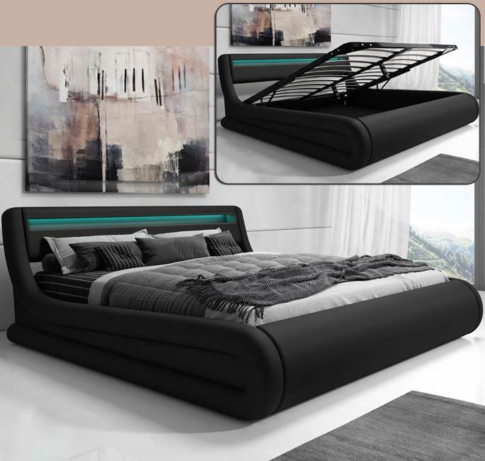 Cama de diseño Riana en color negro