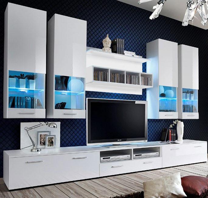 Mueble de salón Aviona en color blanco (3 m)